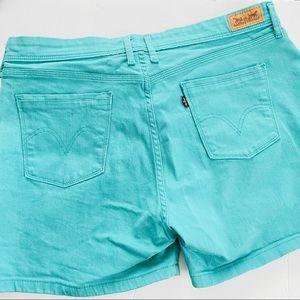 Levi's aqua shorts size 14